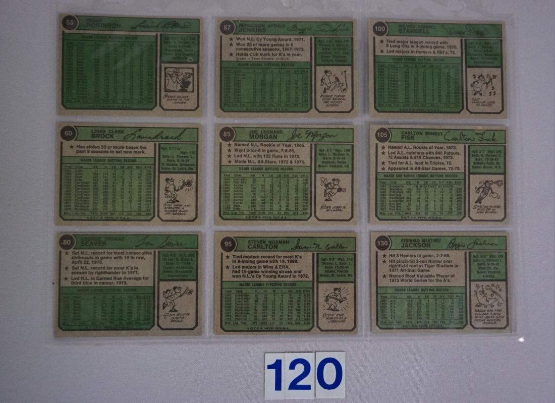 1974 TOPPS BASEBALL CARD ((NEAR) SET - 6
