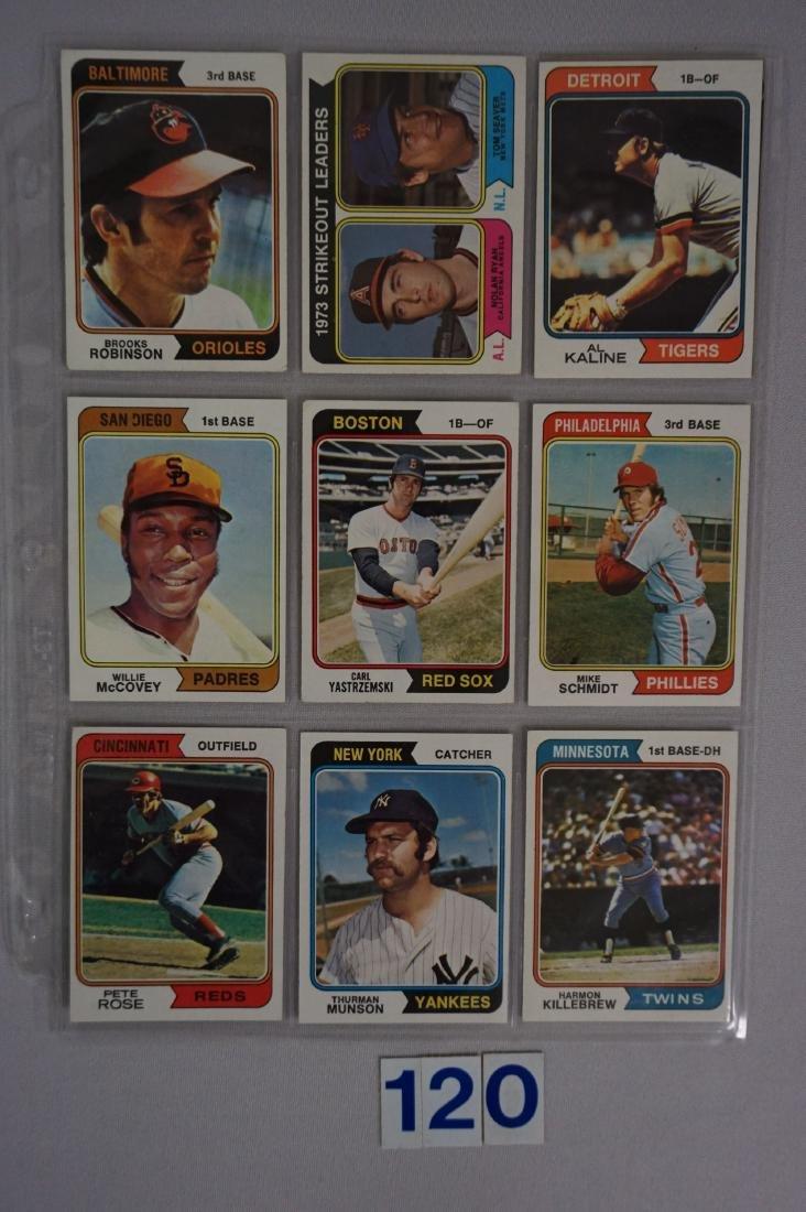 1974 TOPPS BASEBALL CARD ((NEAR) SET - 7