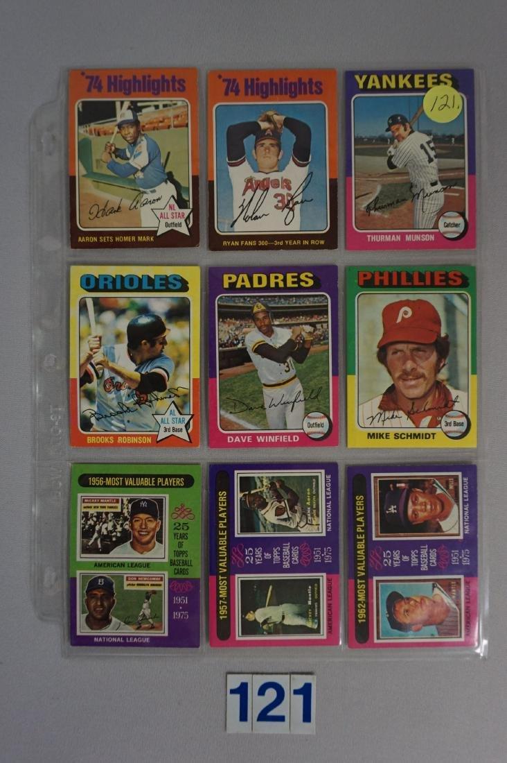 1975 TOPPS BASEBALL CARD SET - 2