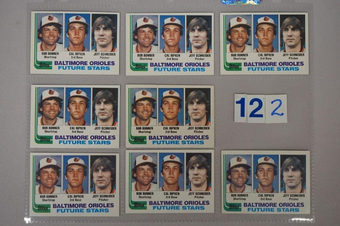(8) 1982 TOPPS #21 CAL RIPKEN JR. ROOKIE CARDS