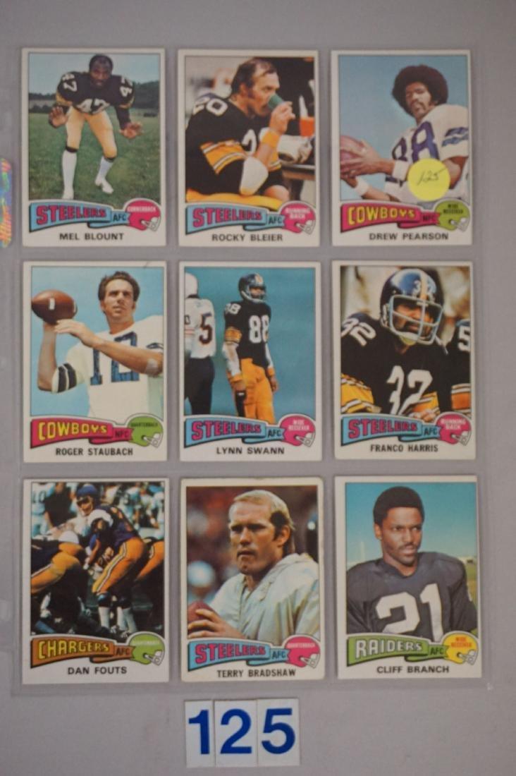 (9 DIFF.) 1975 TOPPS FOOTBALL STARS