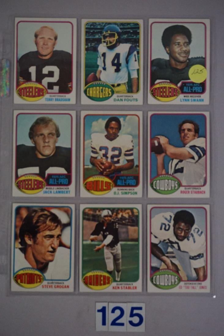 (9 DIFF.) 1975 TOPPS FOOTBALL STARS - 3