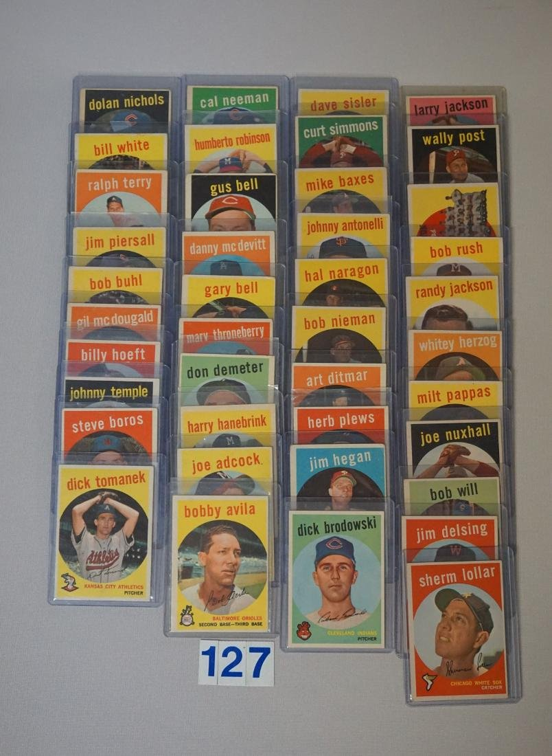 (41 DIFF.) 1959 TOPPS BASEBALL CARDS