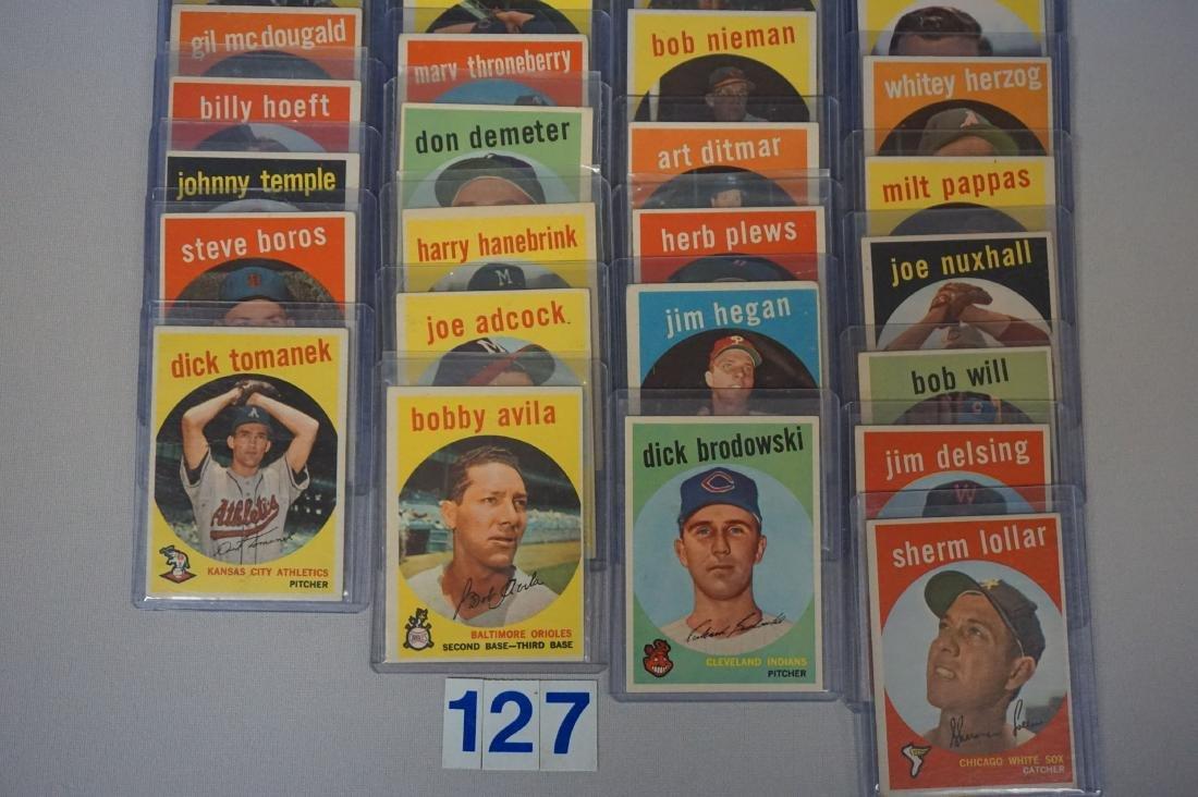 (41 DIFF.) 1959 TOPPS BASEBALL CARDS - 2