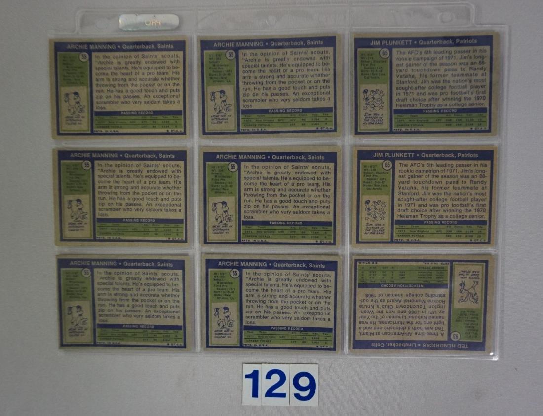 1972 TOPPS FOOTBALL ROOKIES: - 2