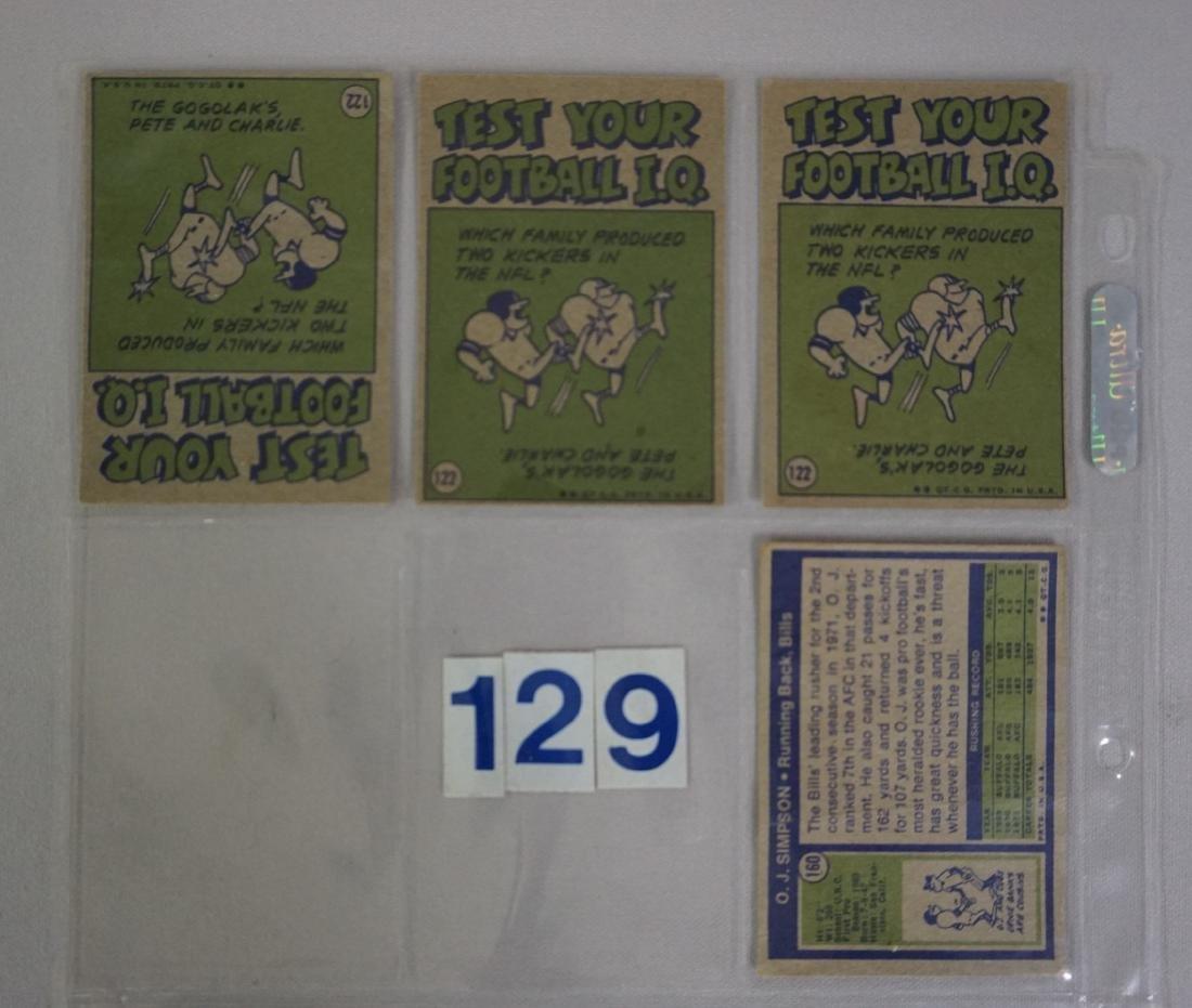 1972 TOPPS FOOTBALL ROOKIES: - 8