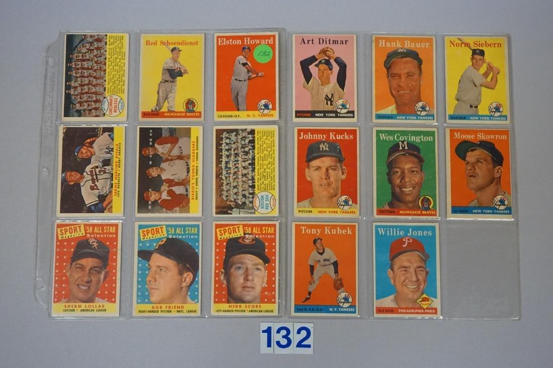 1958 & 1959 TOPPS BASEBALL CARDS