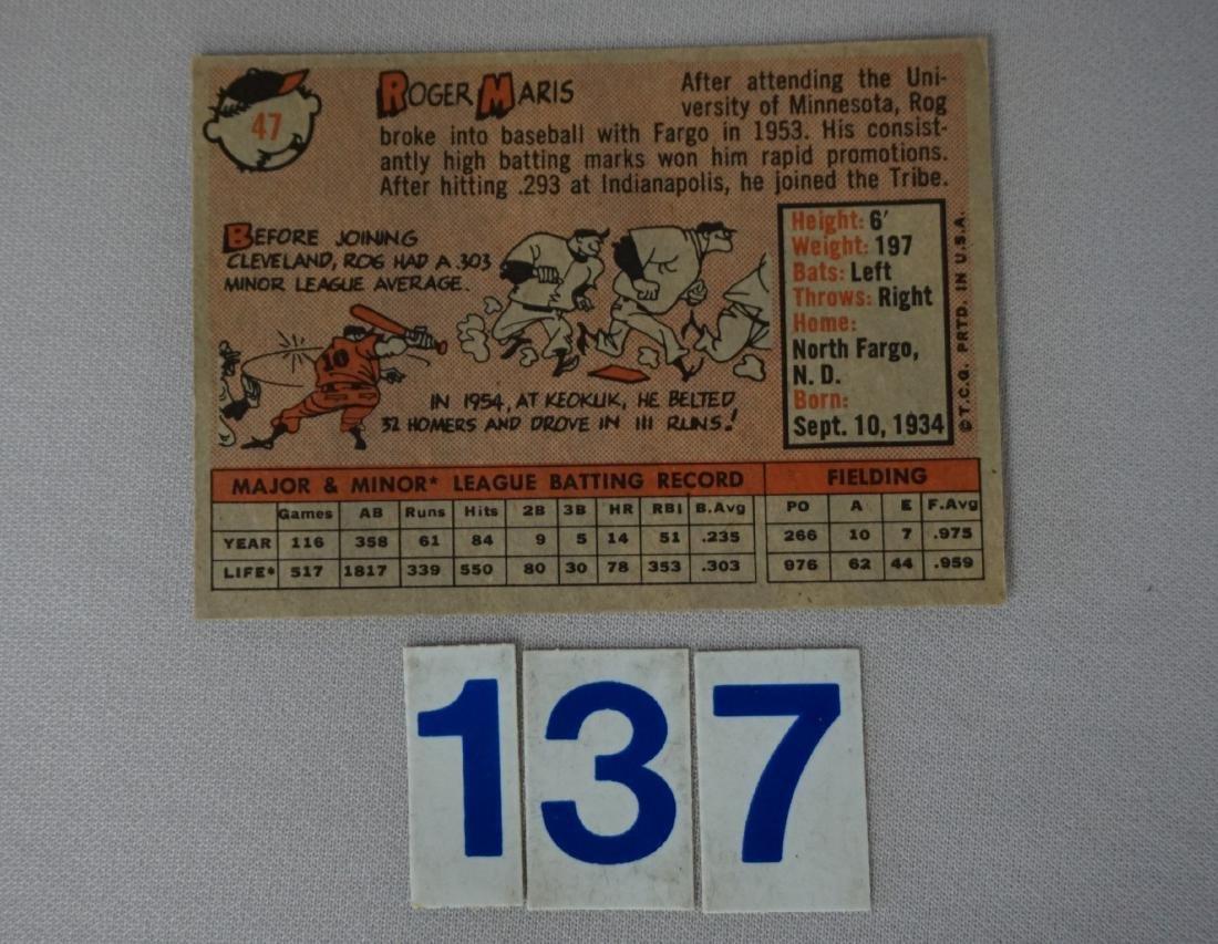 1958 TOPPS #47 ROGER MARIS (R) - - 2