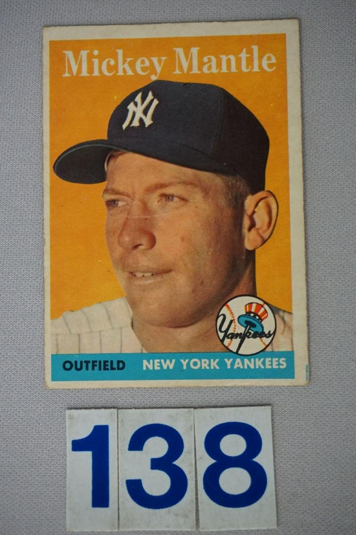 1958 TOPPS #150 MICKEY MANTLE,
