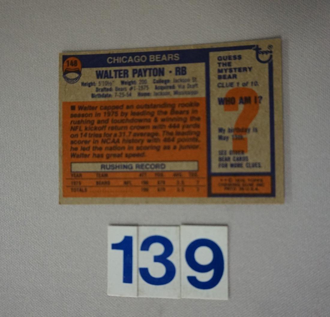 1976 TOPPS #148 WALTER PAYTON (R) - 2