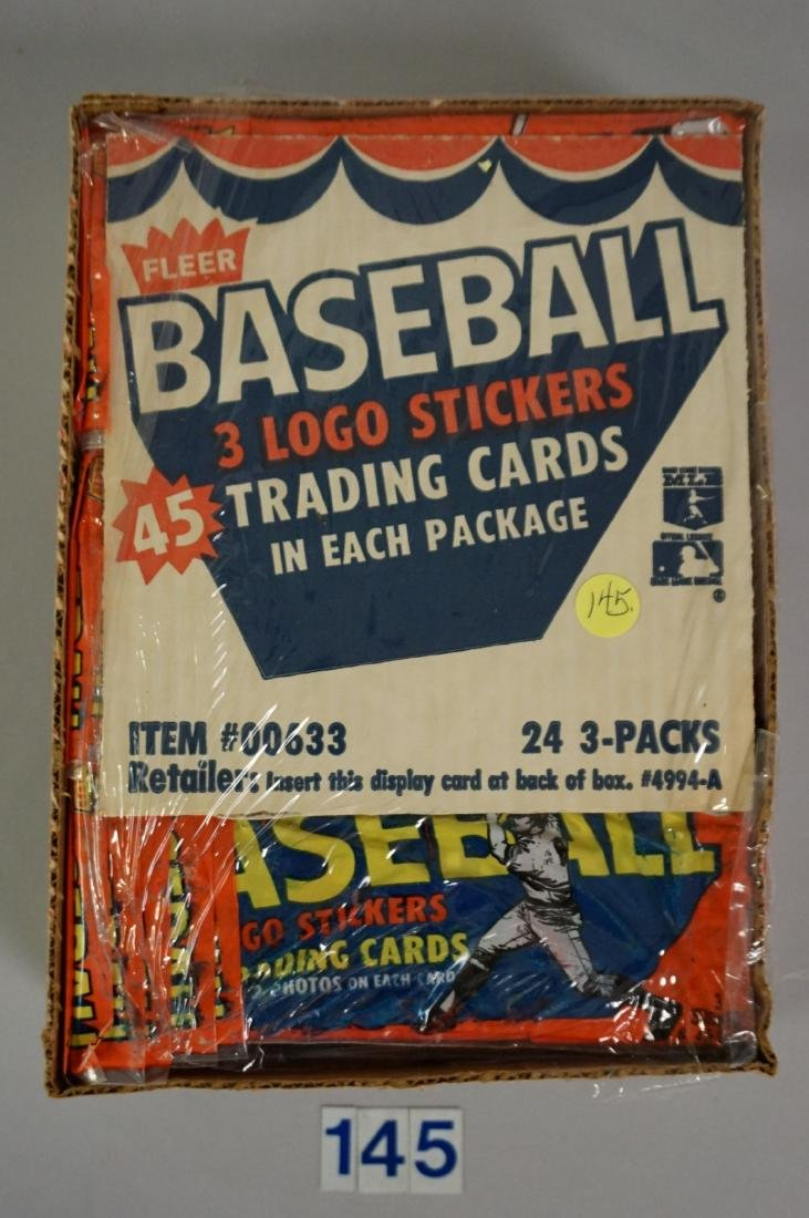 1983 FLEER BASEBALL RACK PACK BOX,