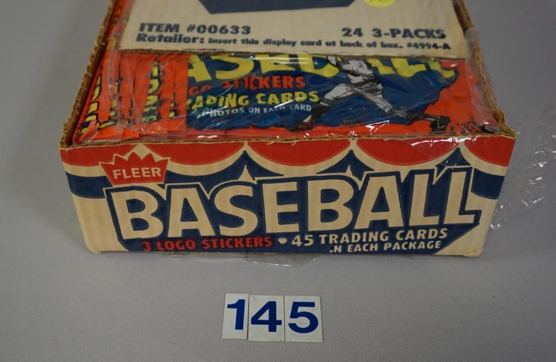 1983 FLEER BASEBALL RACK PACK BOX, - 2