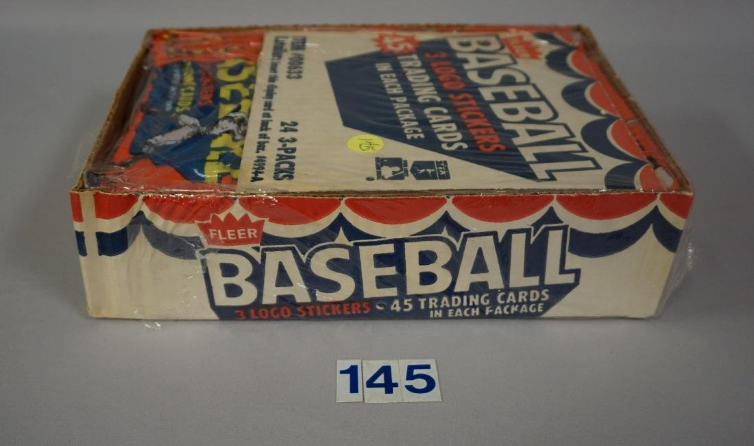 1983 FLEER BASEBALL RACK PACK BOX, - 3