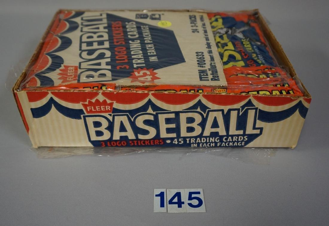 1983 FLEER BASEBALL RACK PACK BOX, - 4
