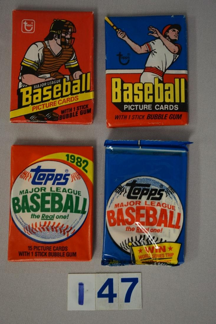 (5) UNOPENED BASEBALL TOPPS WAX PACKS - 2