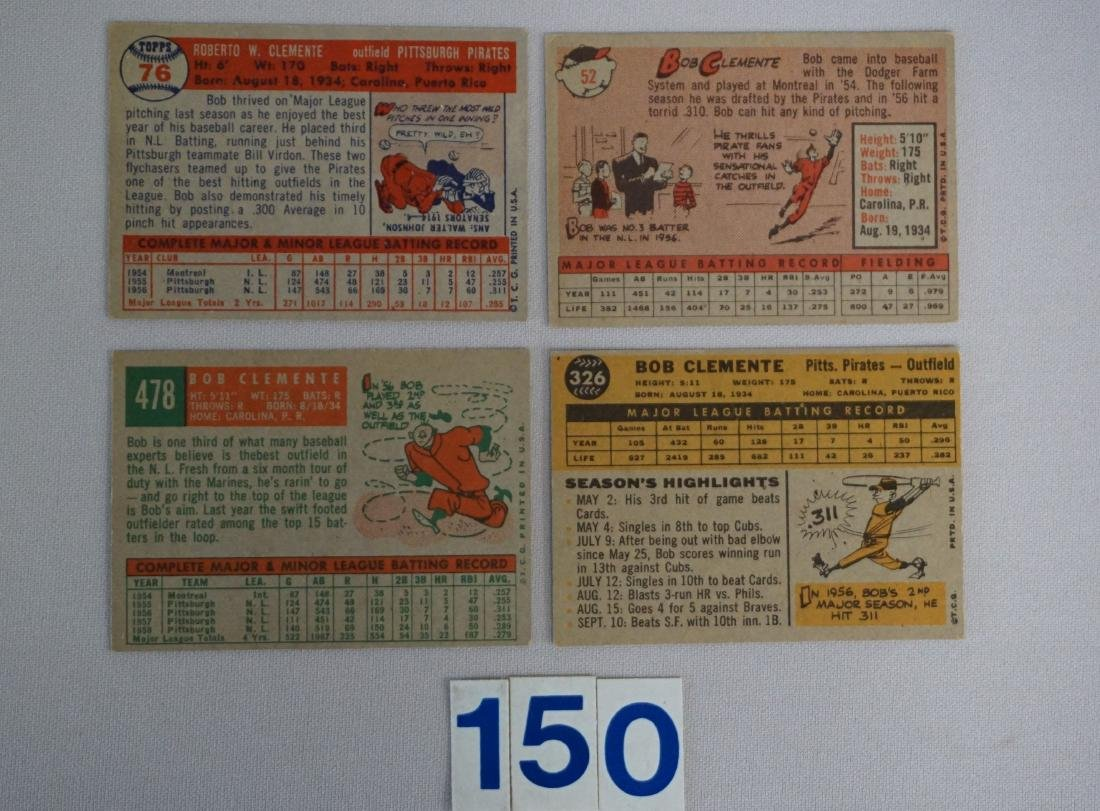 (4) ROBERTO CLEMENTE TOPPS CARDS: - 2