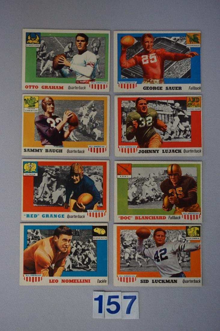 (8) 1955 TOPPS ALL AMERICAN FOOTBALL CARDS: