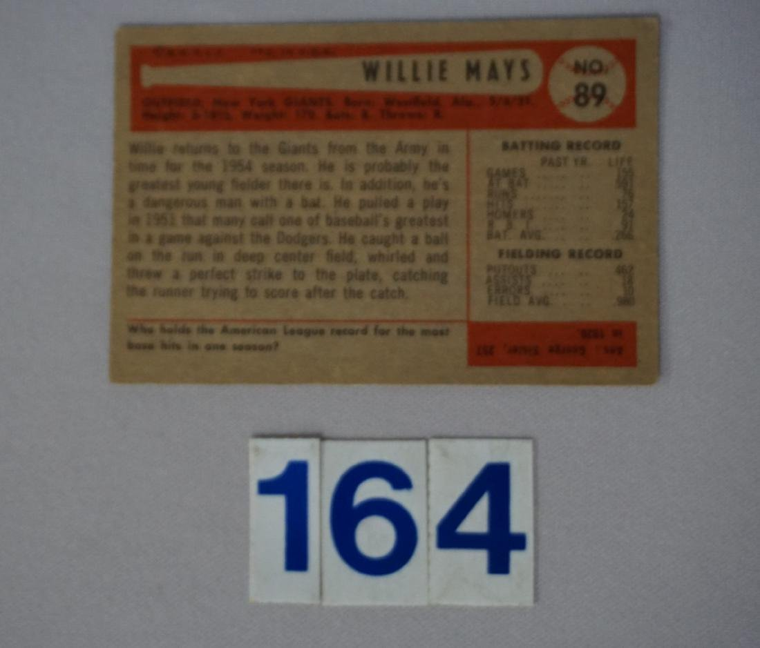 1954 BOWMAN #89 WILLIE MAYS - 2