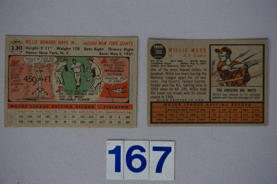 1956 TOPPS #130 WILLIE MAYS - 2