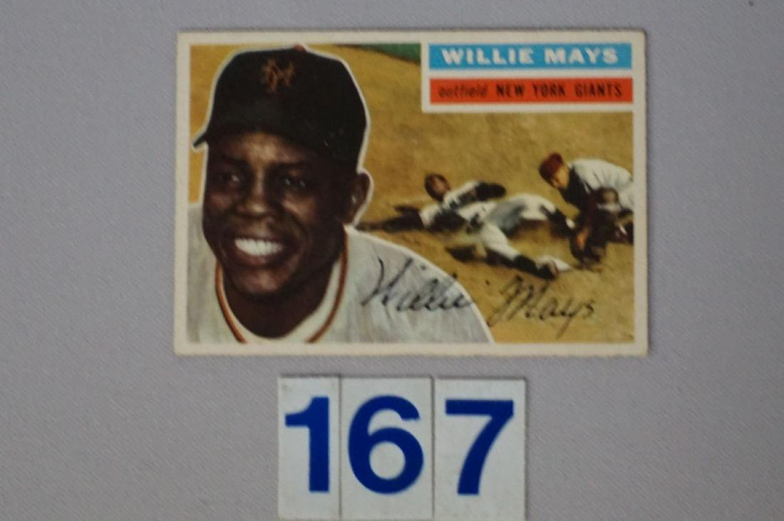 1956 TOPPS #130 WILLIE MAYS - 3