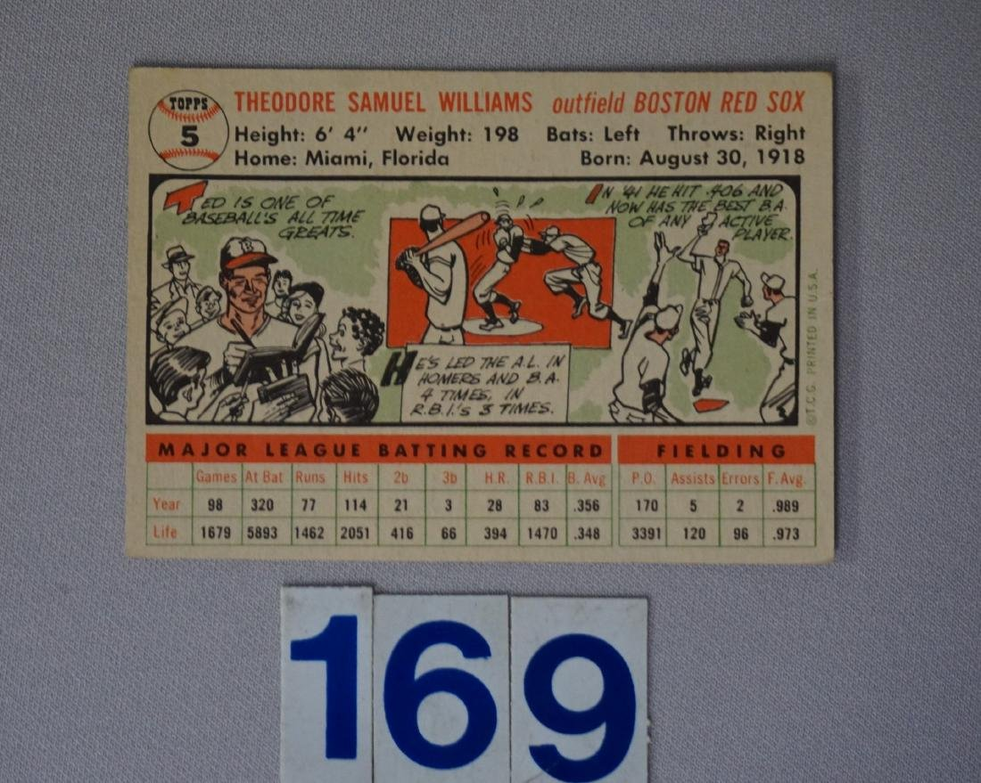 1956 TOPPS #5 TED WILLIAMS - 2