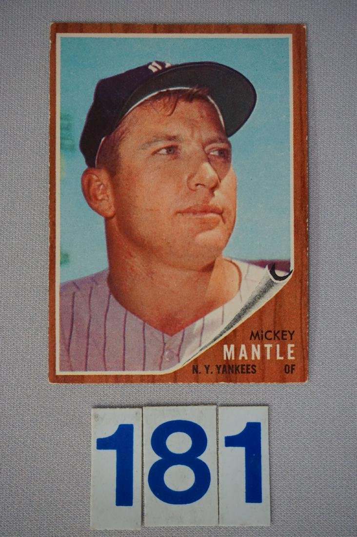1962 TOPPS #200 MICKEY MANTLE