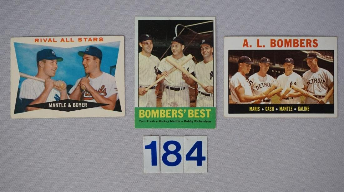 1960, '63 & '64 TOPPS MICKEY MANTLE #160