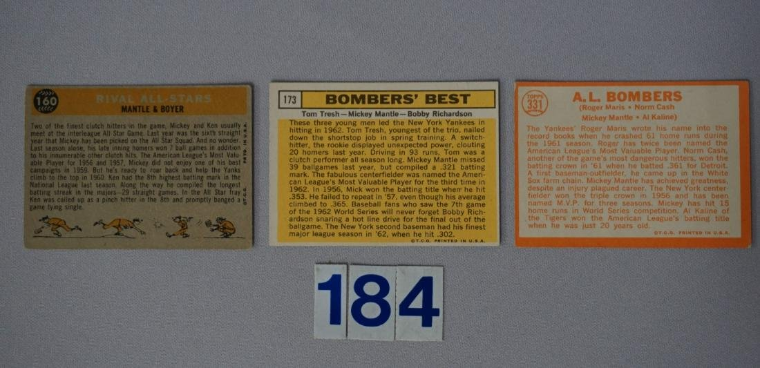 1960, '63 & '64 TOPPS MICKEY MANTLE #160 - 2