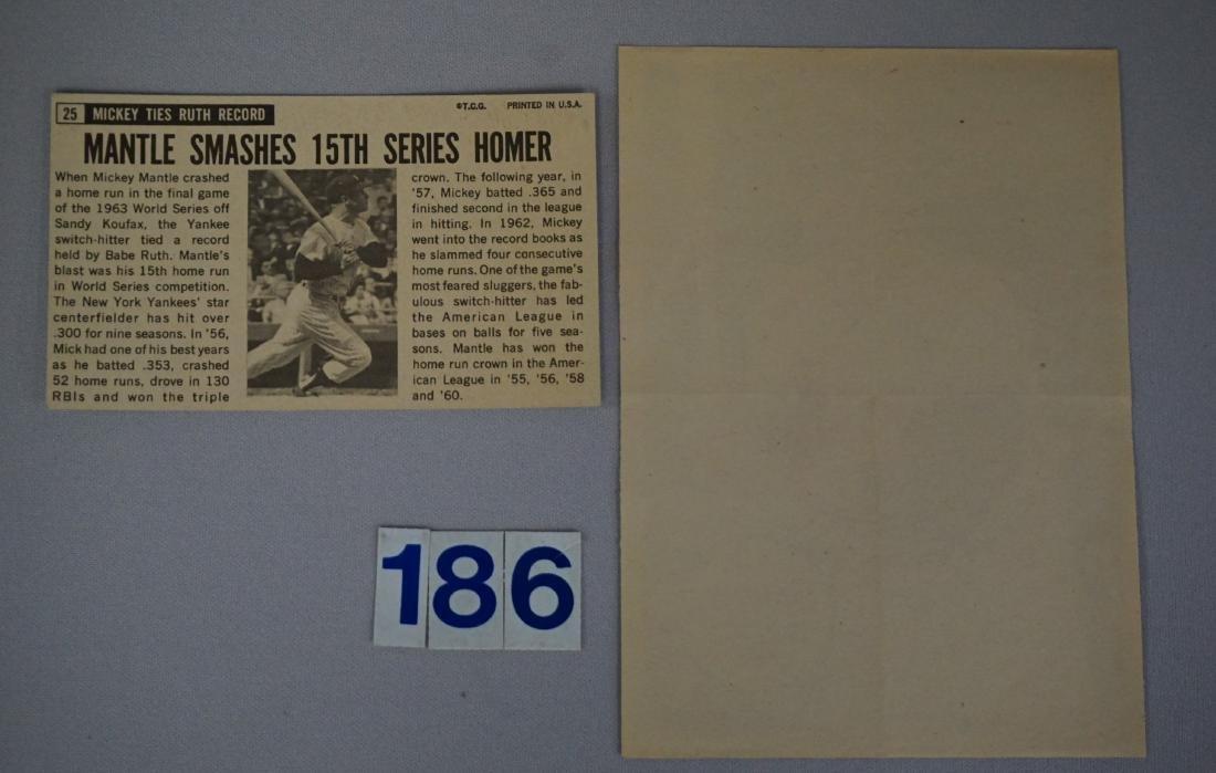 MICKEY MANTLE: 1964 TOPPS GIANTS #25 - 2