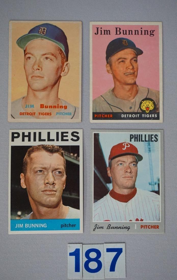 (7 CARDS) JIM BUNNING LOT: