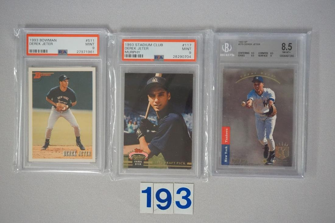 (27) CARD LOT OF DEREK JETER GRADED