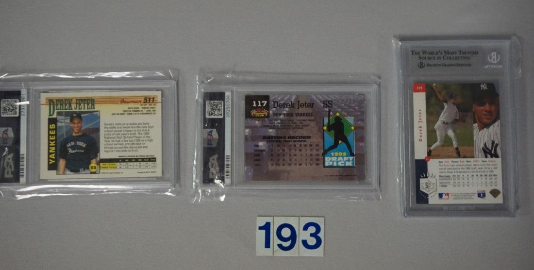 (27) CARD LOT OF DEREK JETER GRADED - 3
