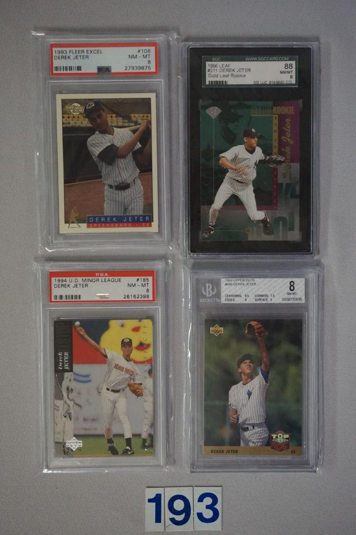 (27) CARD LOT OF DEREK JETER GRADED - 4
