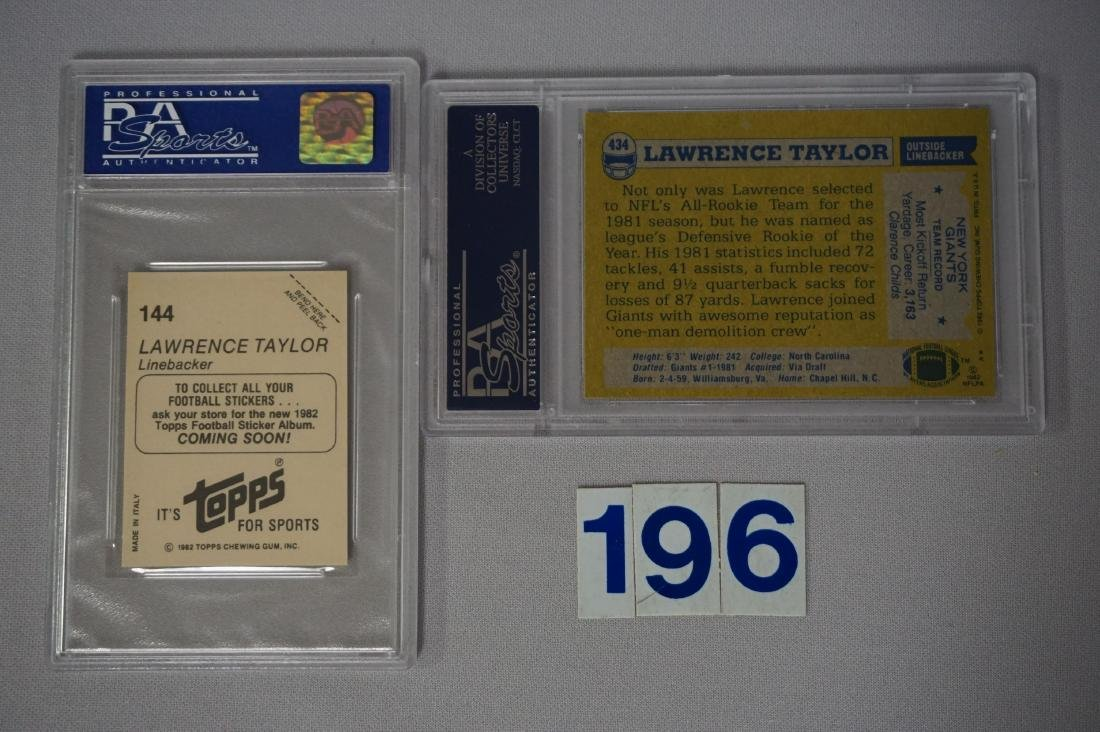 LAWRENCE TAYLOR LOT: - 2