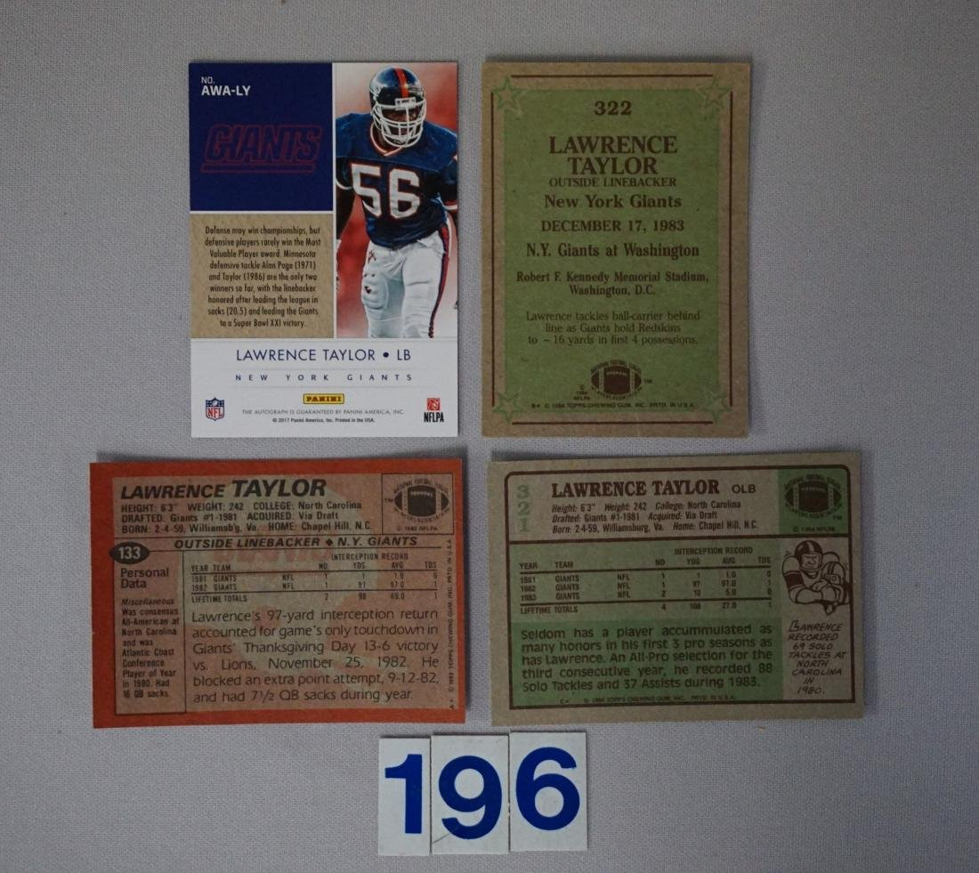 LAWRENCE TAYLOR LOT: - 4