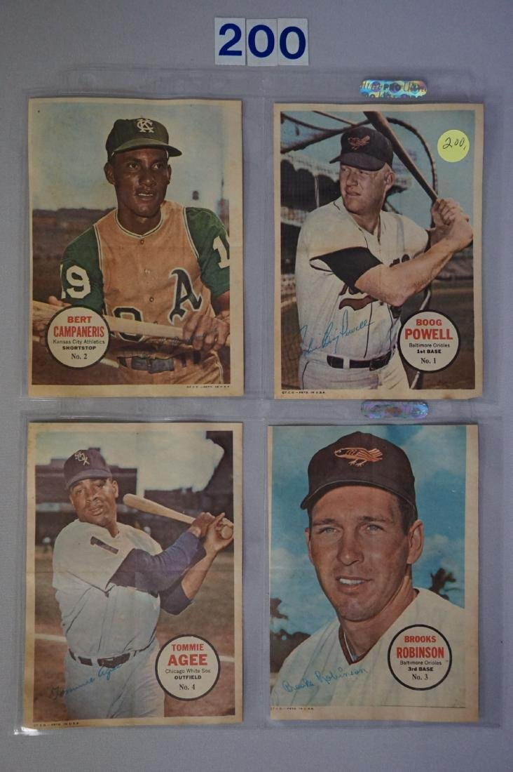 1967 TOPPS BASEBALL PIN-UPS SET