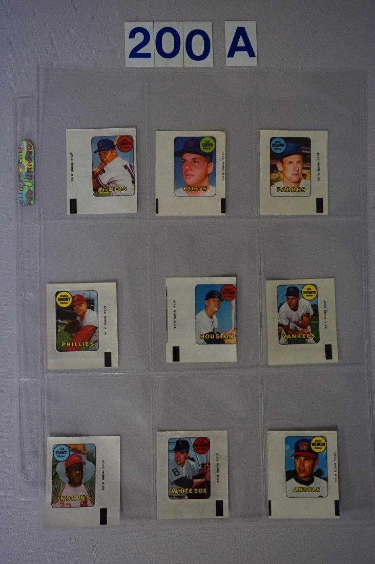 1969 TOPPS BASEBALL DECALS SET
