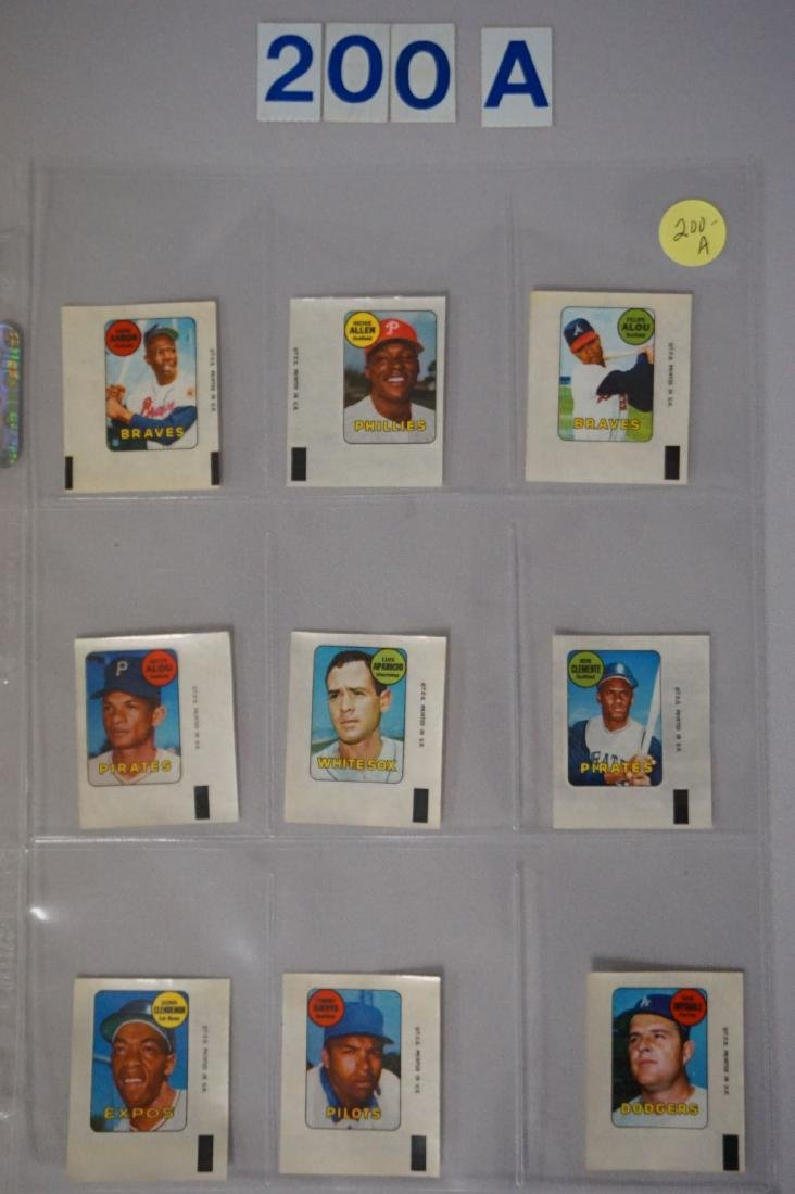 1969 TOPPS BASEBALL DECALS SET - 2