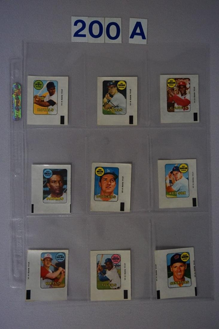 1969 TOPPS BASEBALL DECALS SET - 3