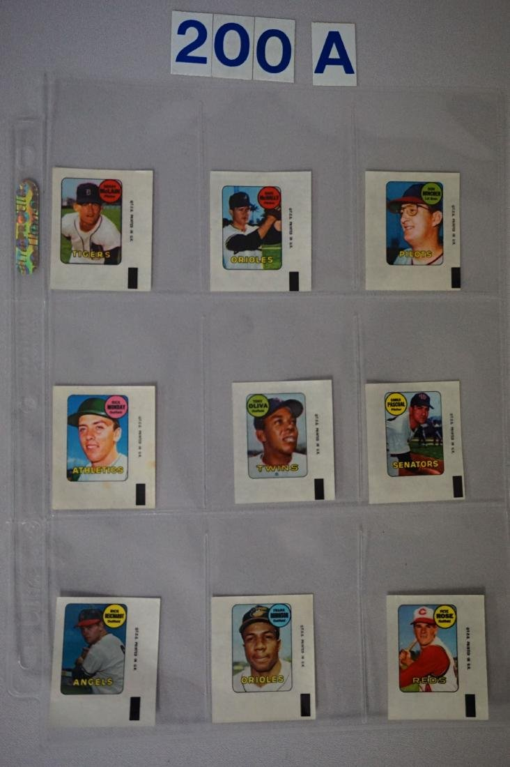 1969 TOPPS BASEBALL DECALS SET - 5