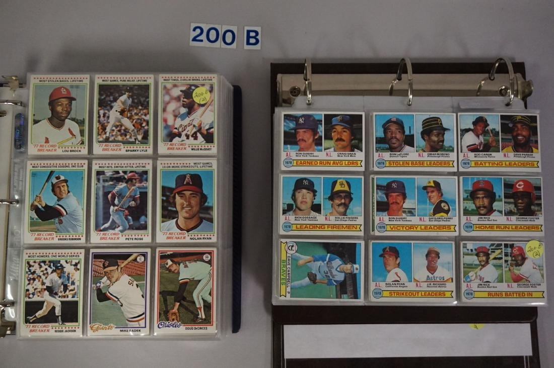 1978 & 1979 TOPPS BASEBALL CARD SET