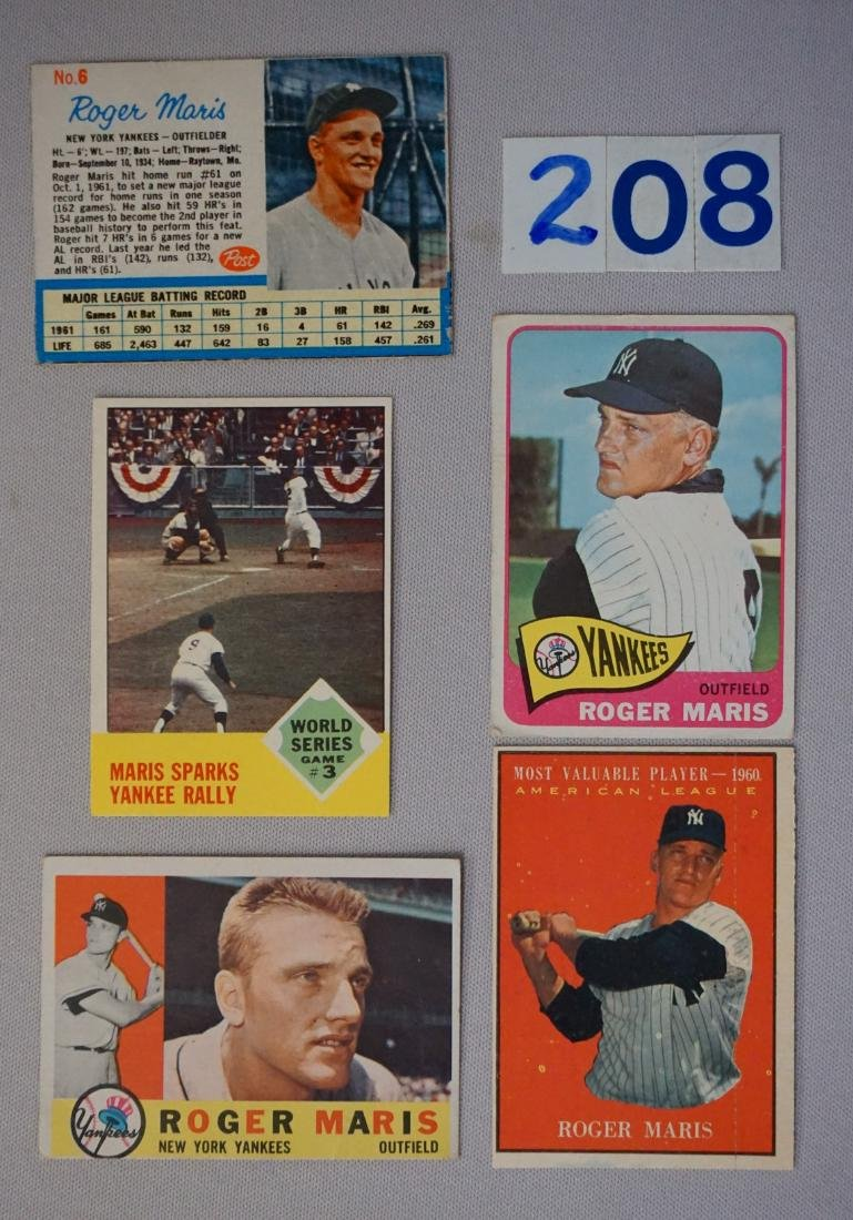 ROGER MARIS (5 DIFF. CARDS)