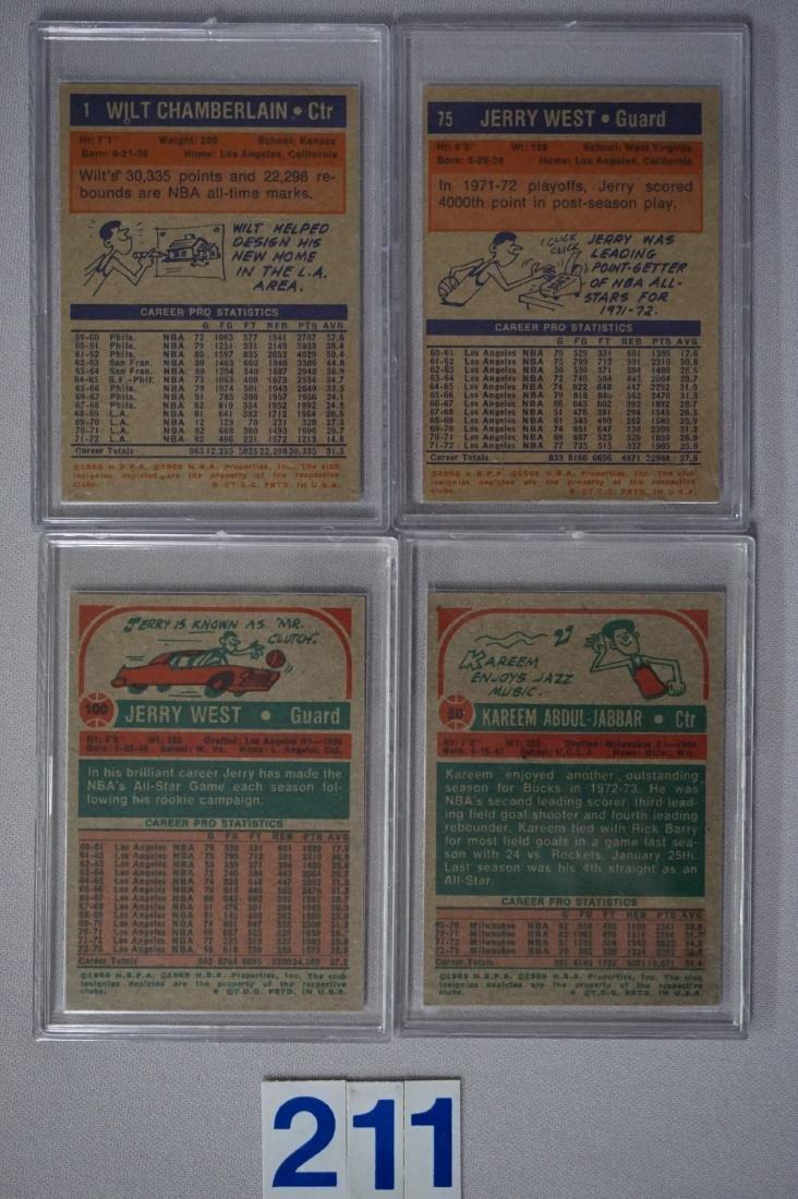1972-'73 TOPPS #1 W. CHAMBERLIN - N.MT - 2