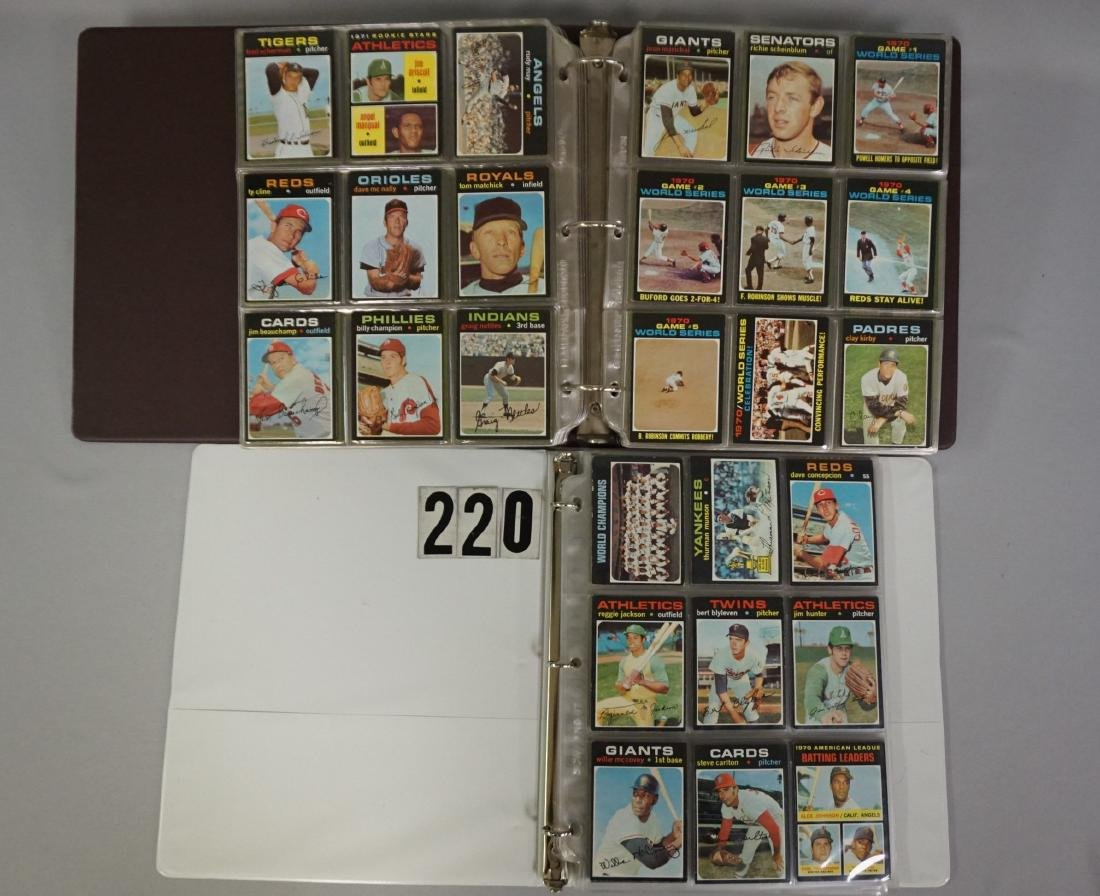 1971 TOPPS BASEBALL CARD SET IN BINDERS
