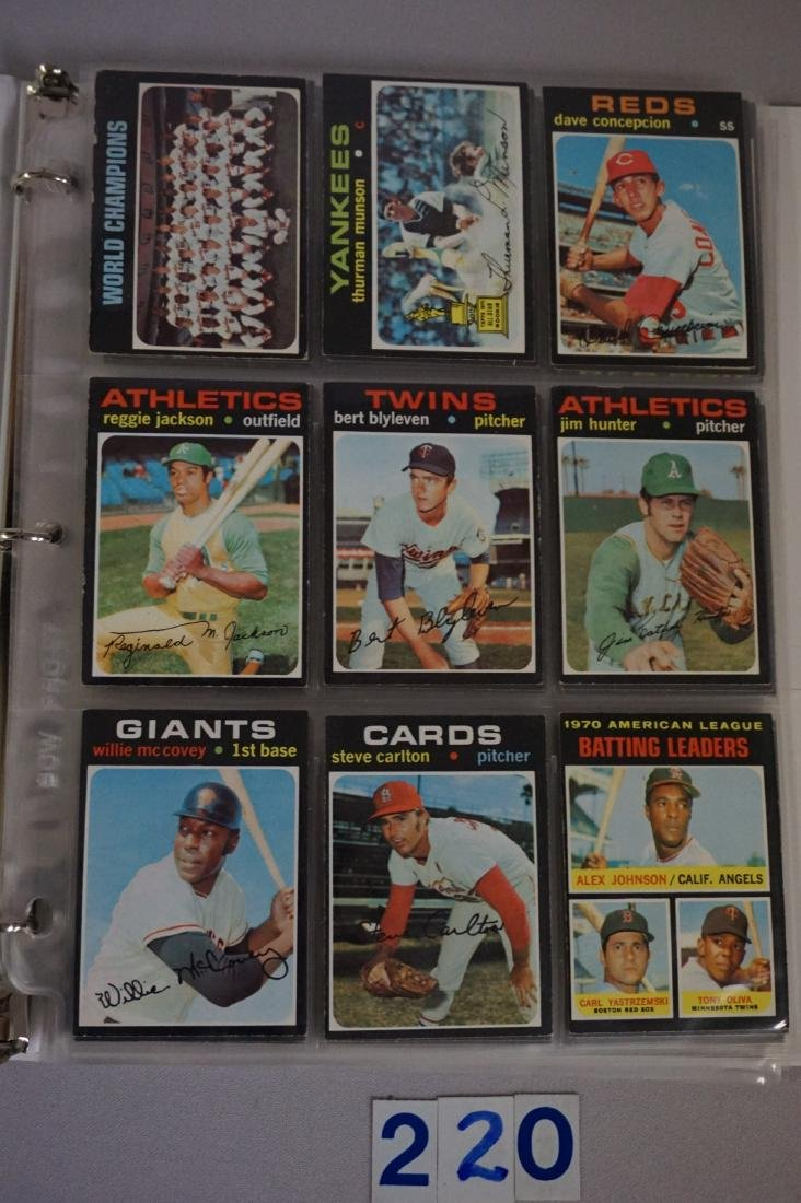 1971 TOPPS BASEBALL CARD SET IN BINDERS - 2