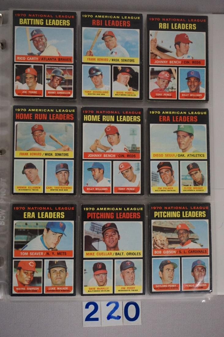 1971 TOPPS BASEBALL CARD SET IN BINDERS - 3