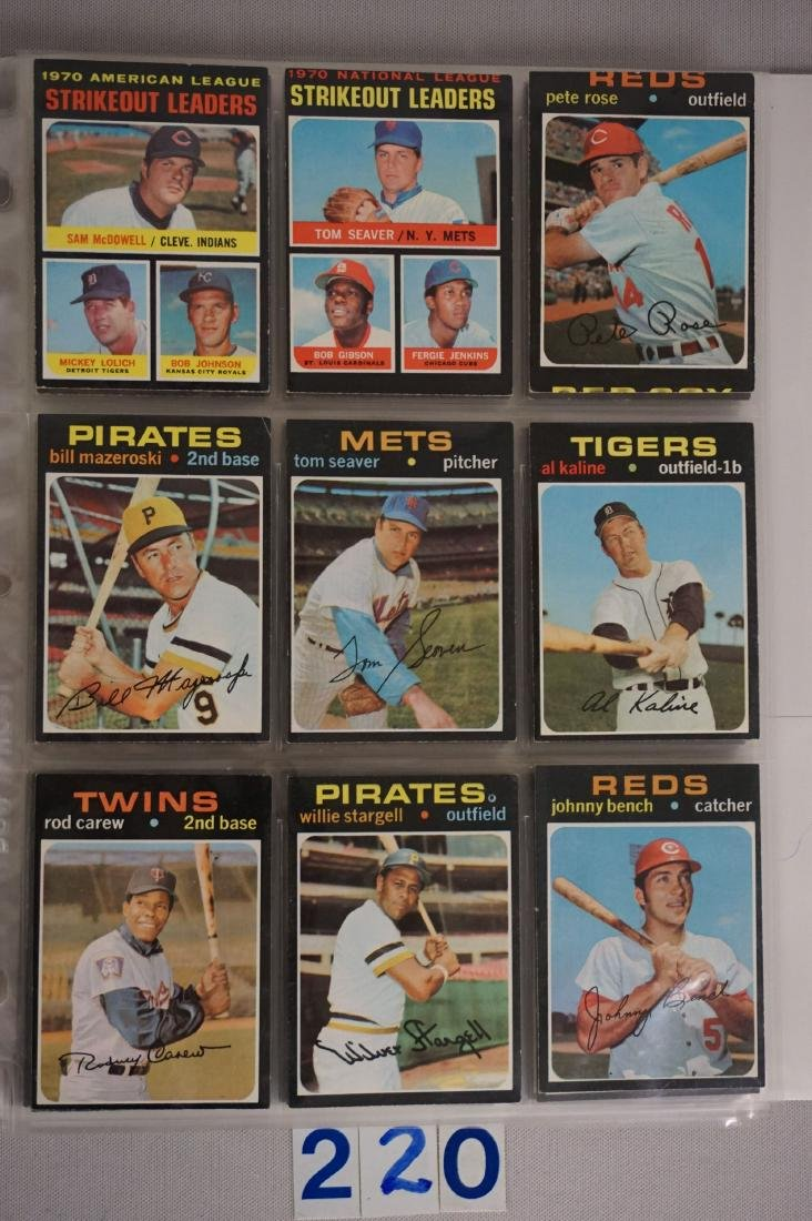 1971 TOPPS BASEBALL CARD SET IN BINDERS - 4