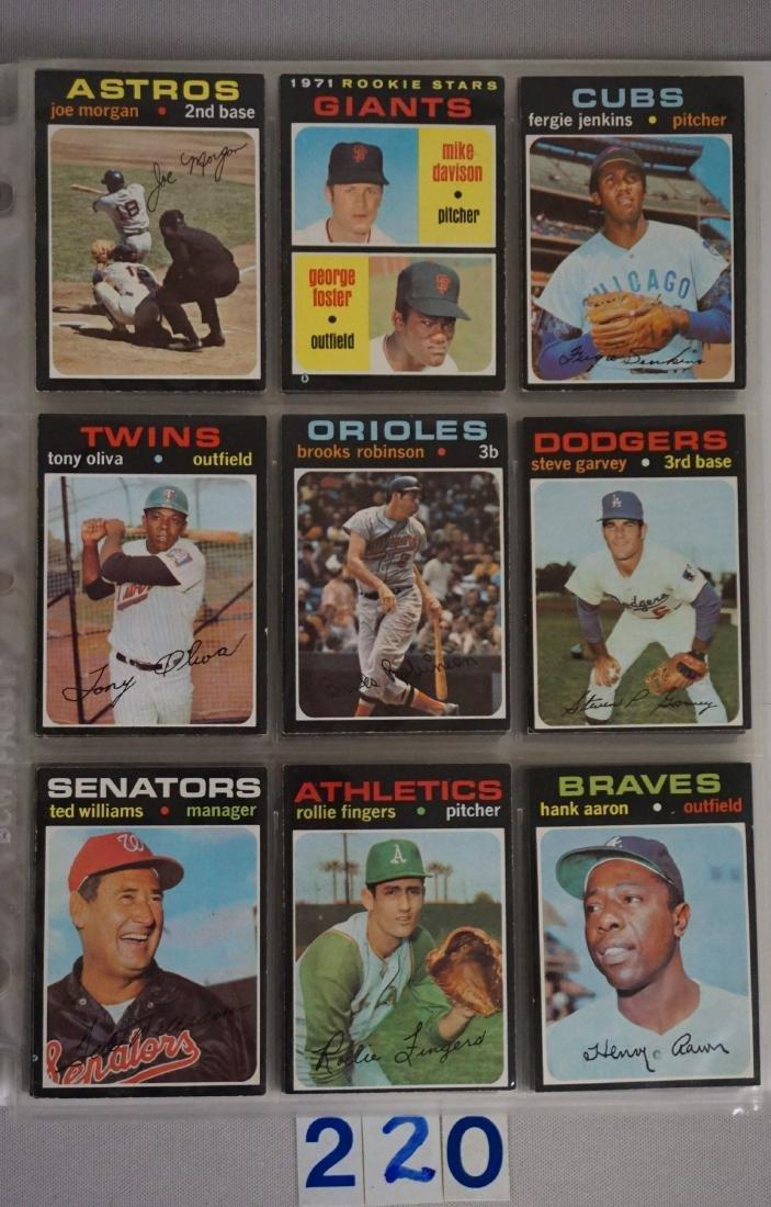 1971 TOPPS BASEBALL CARD SET IN BINDERS - 5