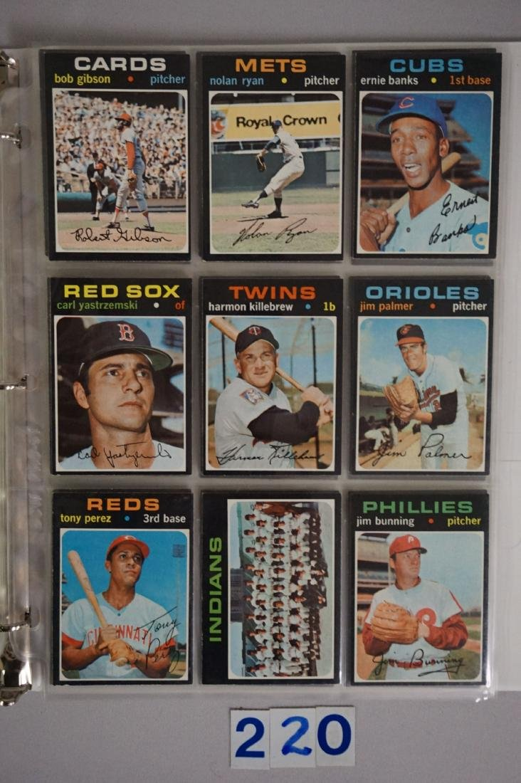 1971 TOPPS BASEBALL CARD SET IN BINDERS - 6