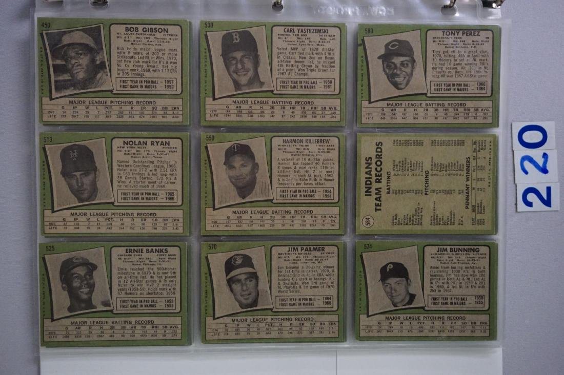 1971 TOPPS BASEBALL CARD SET IN BINDERS - 7